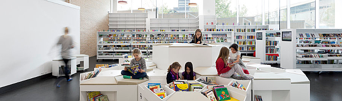 Ørestad School and Library, interior design