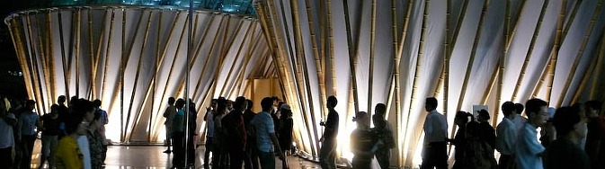 arquitectura y bambú - bamboo exhibition pavilions