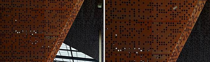 Judit bellostes categor a proyectos centros deportivos for Acero corten perforado oxidado