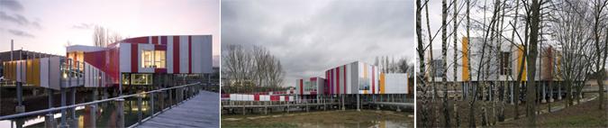 arquitectura y color - pabellón Arcelor Mittal