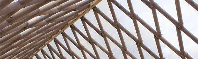 por un tubo – cardboard tubes, temporary pavilion