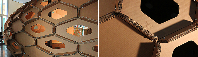 Cocoon a cardboard temporary pavilion