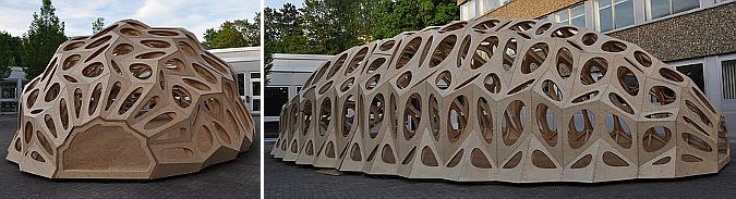 microorganismo aumentado - cocoon-like temporary summer pavilion