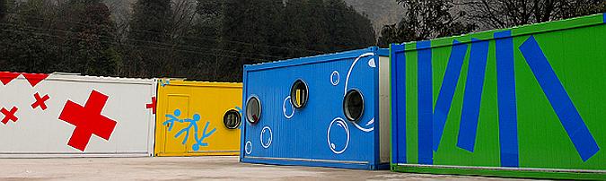 contenedores para la reconstrucción - community container