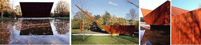 arquitectura, sonido y acero cortén - concert platform in crystal palace park