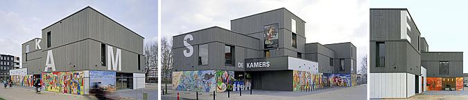 con prismas de madera - cultural centre