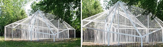Curtain, garden pavilion