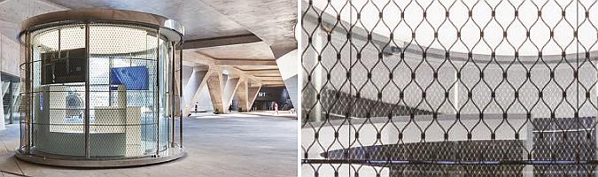 de vidrio y acero – ddp oam pavilion