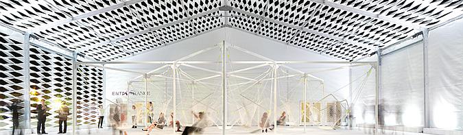 deployé textil - desing miami, temporary pavilion