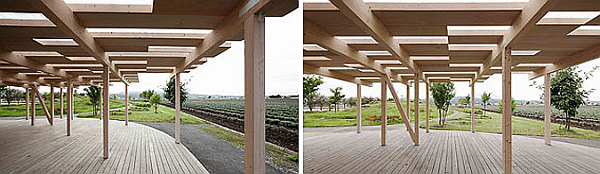 East pavilion in the Farm Tomita 01