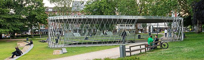 Elisengarten Archaeological Pavilion by Kadawittfeldarchitektur