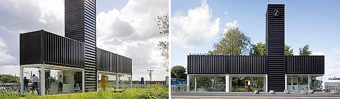 contenedores estacionados - estación del norte de barneveld