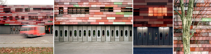Arquitectura, vidrio y color - fire station Berlin