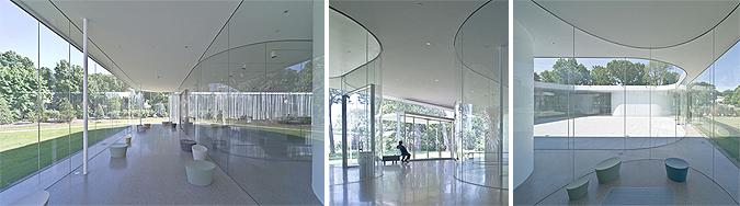 curvas cristalinas - glass pavilion