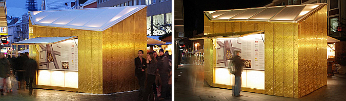 Golden Christmas Market Stalls