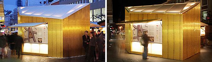 Golden Christmas Market Stalls