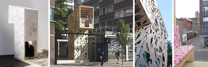 mirador urbano - hairywood installation