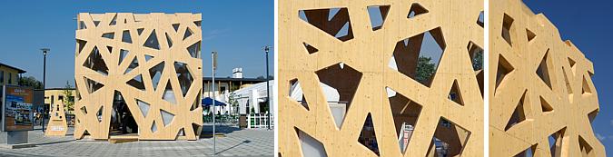 un cubo de madera - infobar in Helsinki