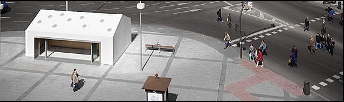 Kiosk at the Plaza Castilla 01
