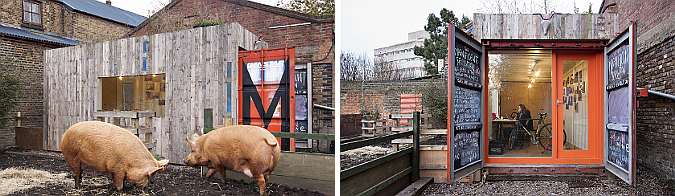 en la granja de hackney ia ia o - magnificent container, hackney city farm