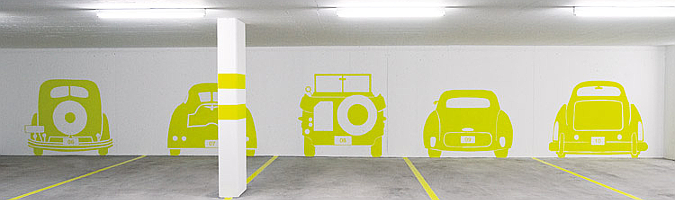 Museum car park by Rawcut Design Studio