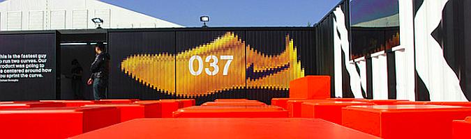 Nike pabellón temporal con containers tokio 2008 01