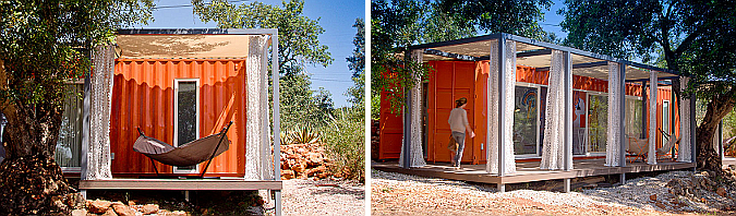 Nomad living, shipping container retreat 02