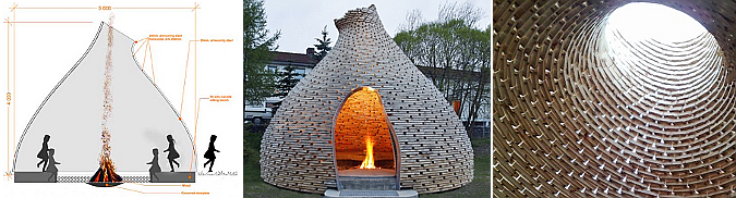 la cabaña del fuego - outdoor fireplace