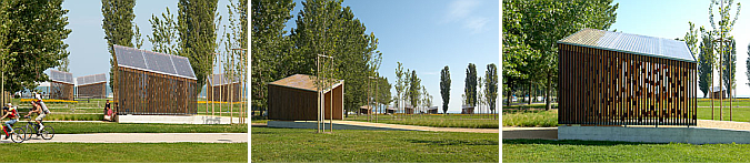 9 pabellones y un parque - parc des rives