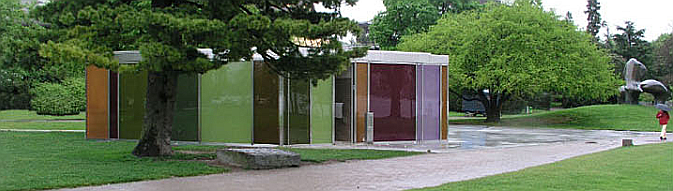 vidrio y color - pavilion at Riesbach harbour in Zurich