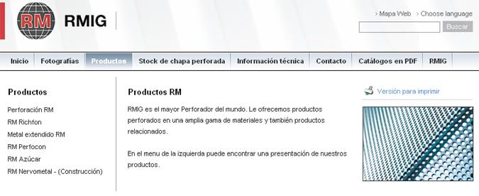 RM RMIG – fabricantes de metal perforado y extendido (deployé)