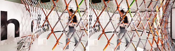 medir y construir - readymade, meter stick wall