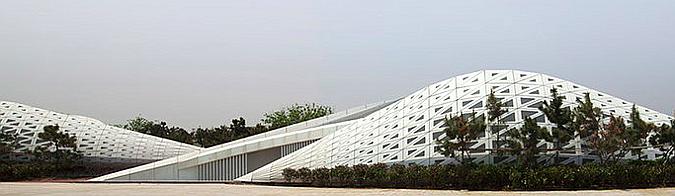 dunas de vidrio y metal - rizhao public bathroom