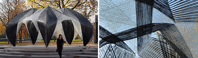tejer, secar y ocupar - carbon and glass fibre, research pavilion