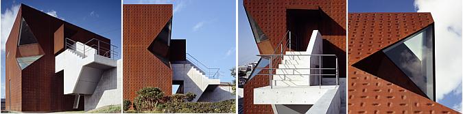 arquitectura y acero cortén - ssm, kanno museum