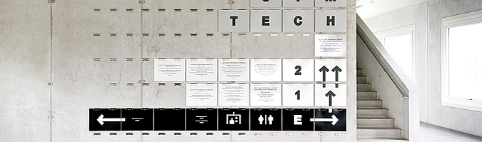 código cifrado  – SimTech research center, signage