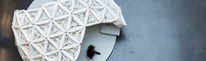 SpacerFabric, Experimental Pavilion by students of frankfurt university