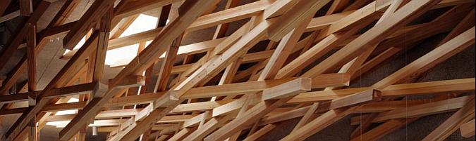entramado de maderas -