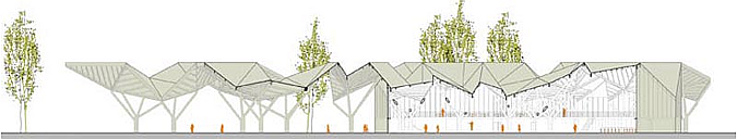 Steel forest pavilion 02