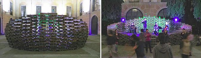 Temporary Concert Platform in Casa de Cultura de Girona