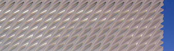 velo de hormigón blanco - the broad museum