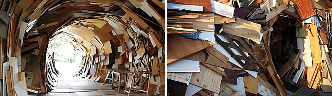 remolino de escombros - the big crunch, installation