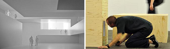 cruce de miradas - thinking space, installation