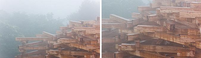 encajes de madera - woods of net, pavilion