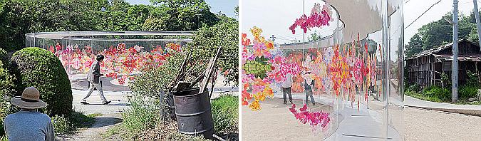 ondulaciones en circulo - casa a-arte en inujima