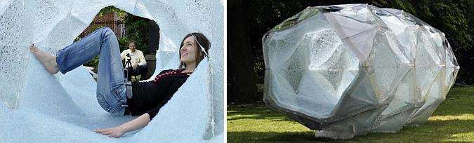 medusas, plastico y origami - aqua scape pavilion
