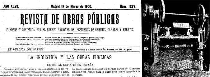 El metal Deployé - marzo de 1900