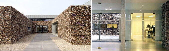 arquitectura, piedra y acero -