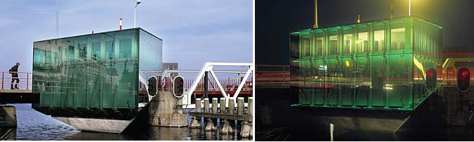 una roca de vidrio verde - bridge house