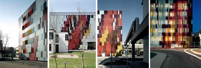 Arquitectura y color - escamas de vidrio